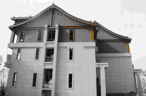 龙玺台-新中式风格别墅外观初现端倪图片